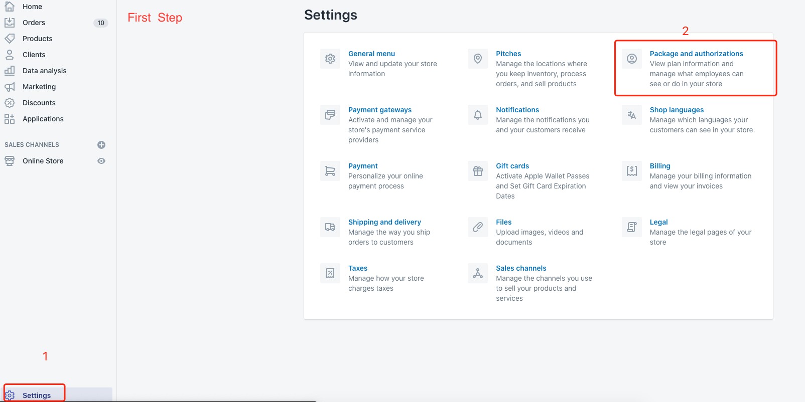 Shopify add employee account